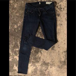 Rag & Bone Capri in Indigo Skinny Jean Size 25